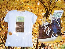 Leila Singleton Urban Forest Project t-shirt and totebag