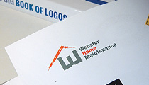 Leila Singleton's logo for Webster Home Maintenance pictured in The Big Book of Logos 5, by David E. Carter