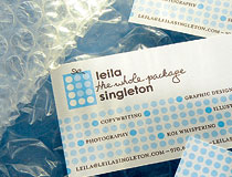 Leila Singleton : The Whole Package Business Card